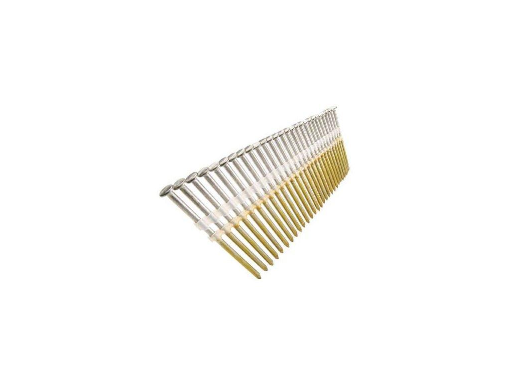 Hřebíky šroubové v pruzích na plastu 28° Berta