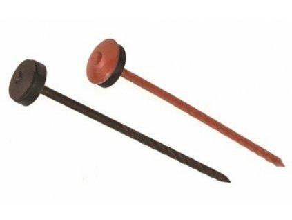 Šroubovitý hřebík s těsnící podložkou 3,8x105