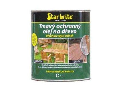 Tmavý ochranný olej na dřevo