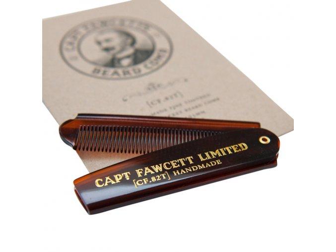 Skládací hřeben na vousy Capt. Fawcett [CF.82T]