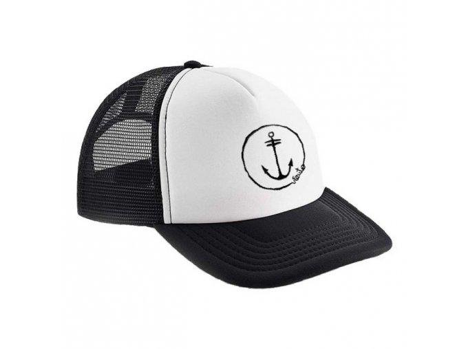 trucker cap white anchor logo 1 2re