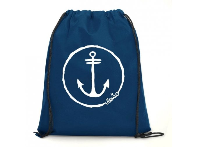 dawstring bag navy gymsack anchor logo1