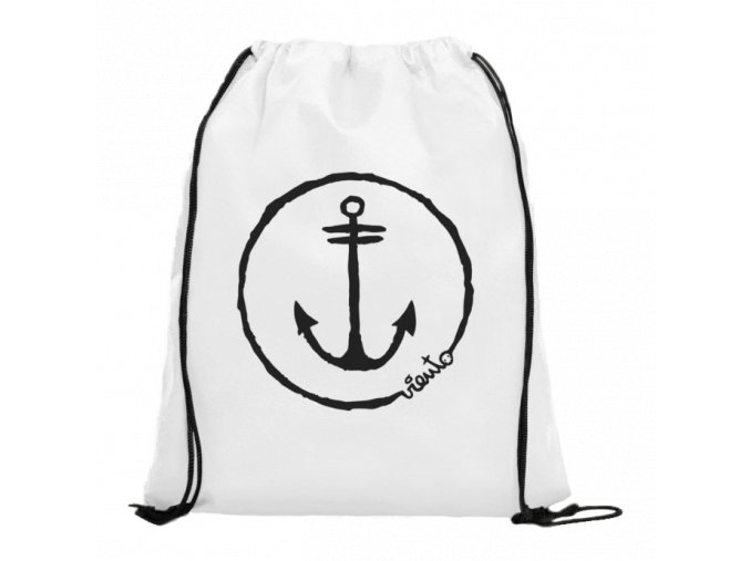 dawstring bag white gymsack anchor logo1 4