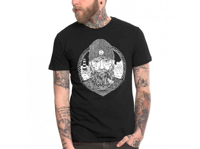 men t shirt black dark captain1