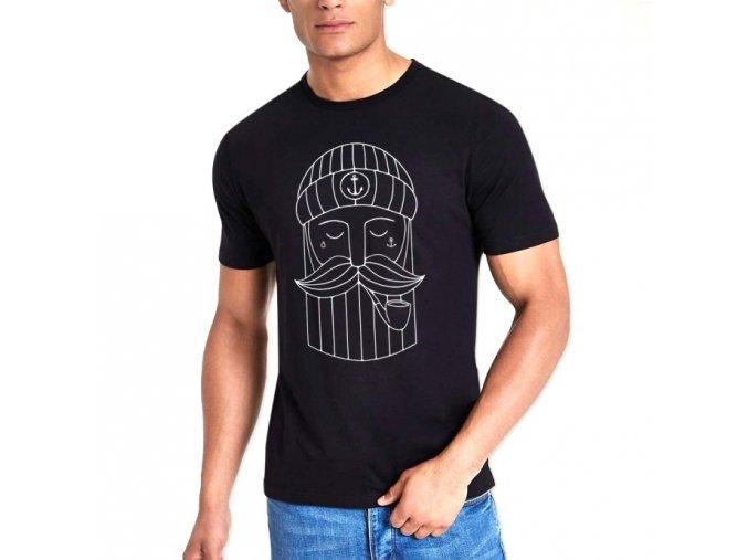 men t shirt black minimal sailor1