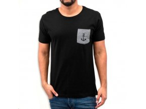 t shirt unisex black basic pocket1
