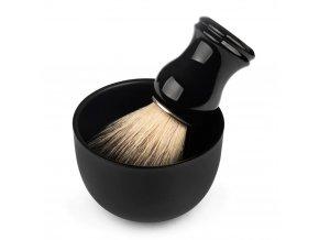 QSHAVE Stainless Steel Shaving Soap Bowl black2