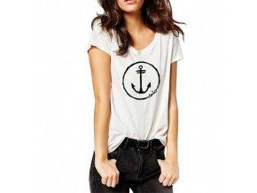 Dámské tričko ričko Viento Anchor Logo - White
