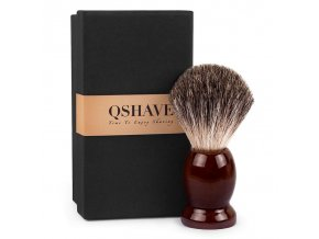 Qshave Shaving Brush darkwood1