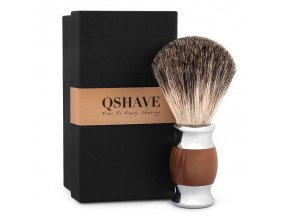 Qshave Shaving Brush silver1