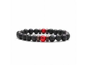 Náramek Elements s přírodními kameny - Red