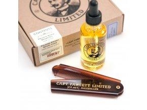 Captain Fawcett Beard Oil and Comb 1616