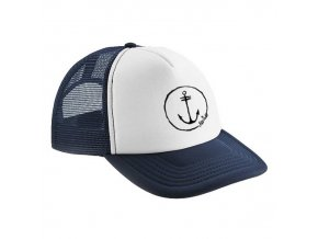 trucker cap navy anchor logo1 2re