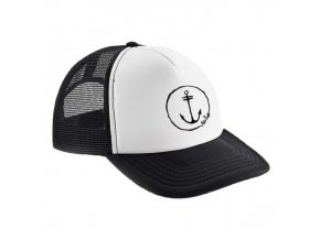 trucker cap white anchor logo 1 2re