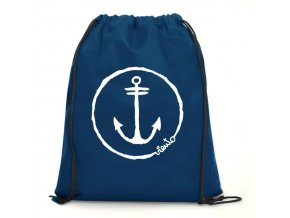 dawstring bag navy gymsack anchor logo1