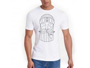 men t shirt white minimal sailor1 2