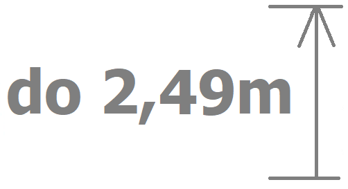 do 2,49m výšky vrat