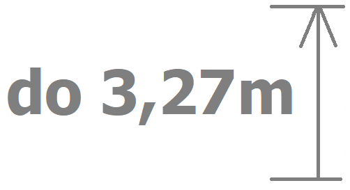 do 3,27m výšky vrat