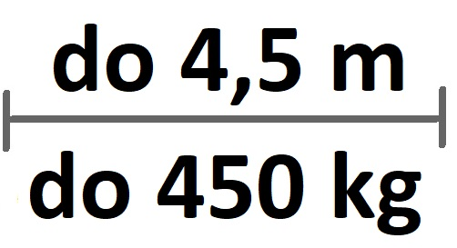 Sady do 4,5m průjezdu/450kg