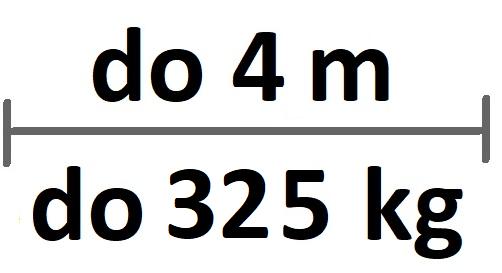 Sady do 4m průjezdu/325kg