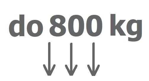 Do 800 kg