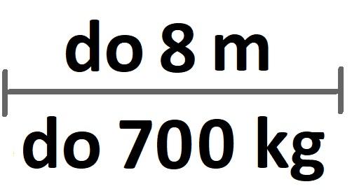 Sady do 8m průjezdu/700kg