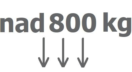 Nad 800 kg