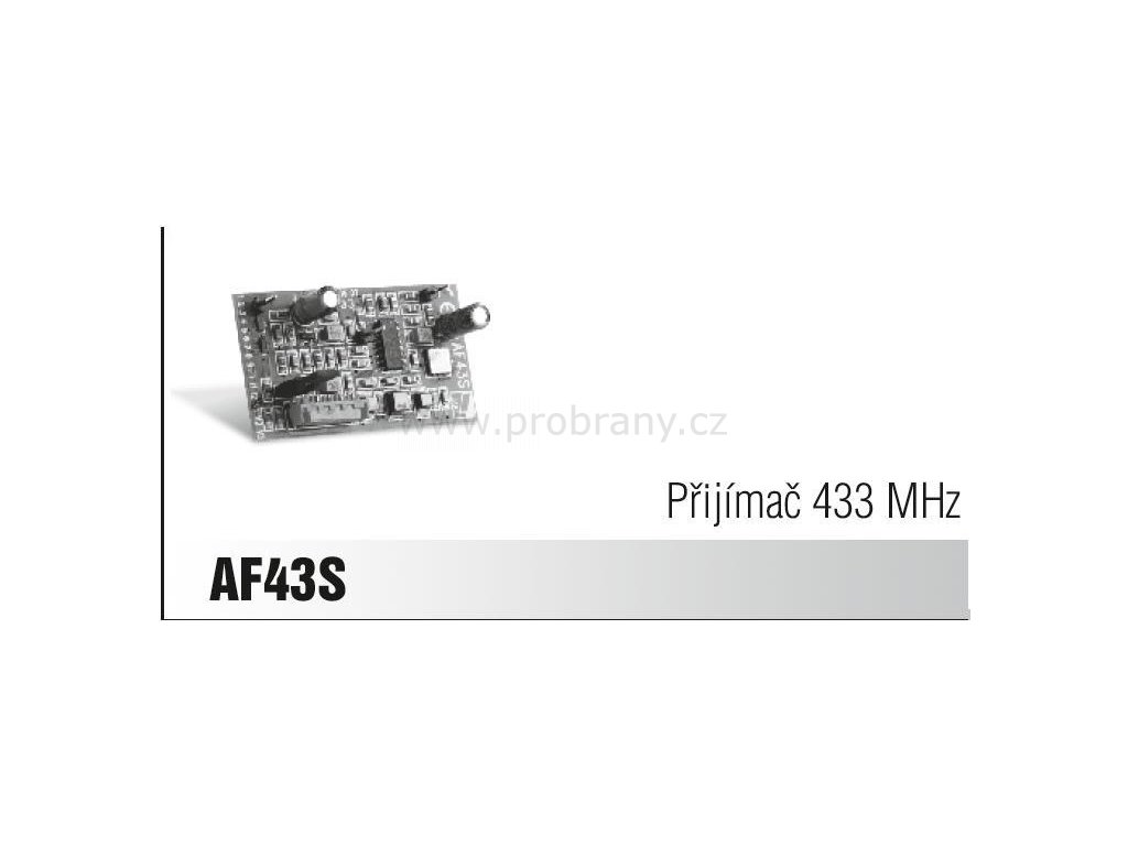 CAME AF 43S přijímač, frekvence 433Mhz