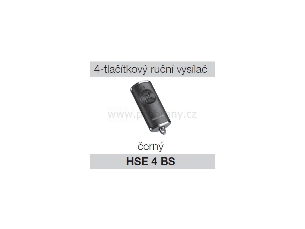 Hörmann HSE 4 BS černý chrom dálkový ovladač pohonu brány a vrat