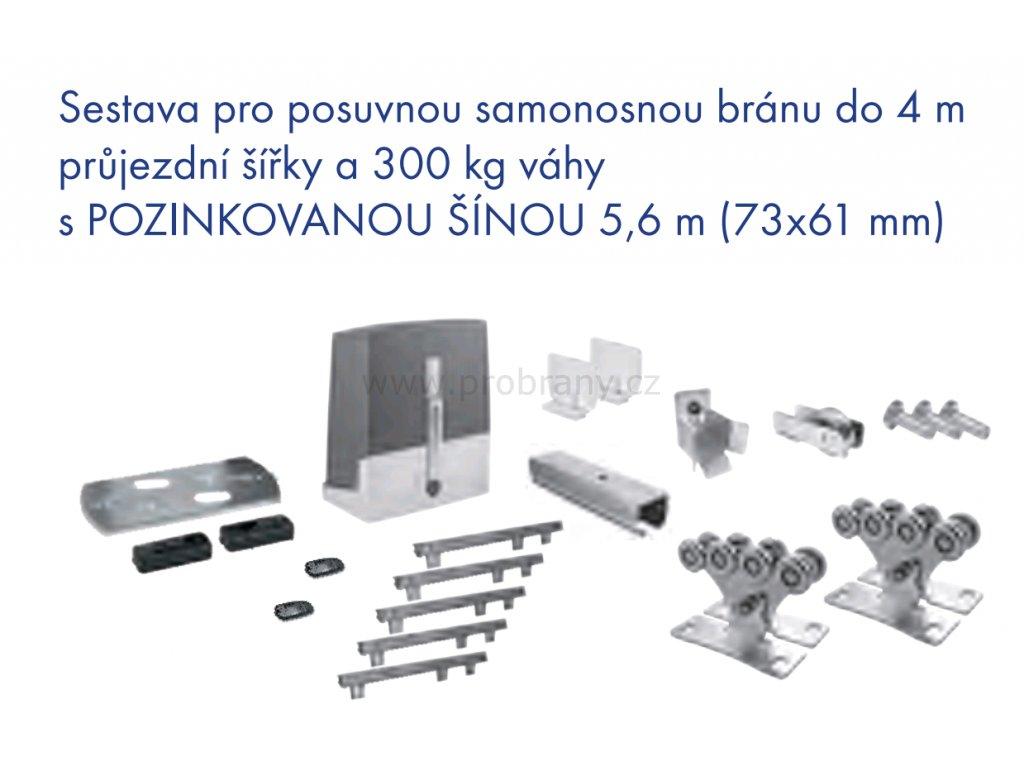 CAME KIT POSUV 2 SZE sestava pro posuvnou bránu do 4m průjezdní šířky a 300kg váhy, fotobuňky, 2x dálkový ovladač TOP 432 EE