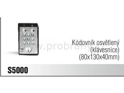 CAME S5000 kódovací klávesnice osvětlená