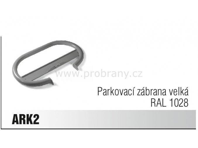 CAME ARK 2 parkovací zábrana velká RAL 1028