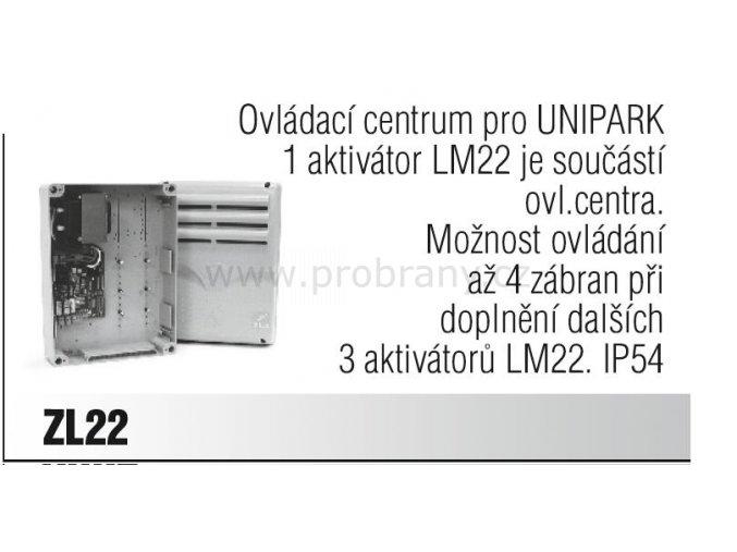 CAME ZL22 ovládací centrum pro UNIPARK