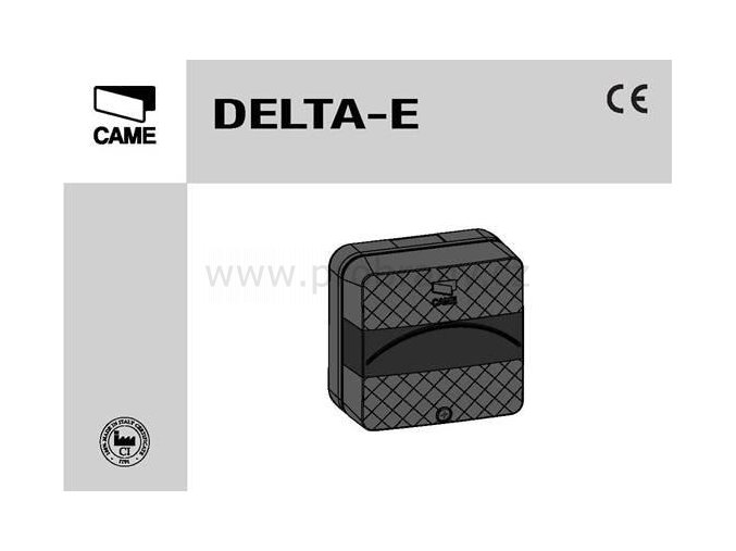 CAME DELTA-E bezpečnostní fotobuňka na zeď do 18m, IP54