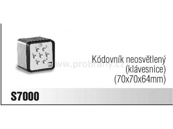 CAME S7000 kódovací klávesnice neosvětlená - poslední 1 KUSY