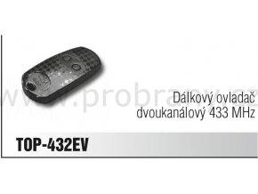 CAME TOP 432 EV dálkový ovladač dvoukanálový, frekvence 433 Mhz