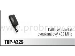 CAME TOP 432 S dálkový ovladač dvoukanálový, frekvence 433 Mhz