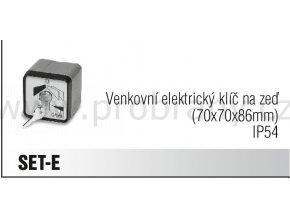 CAME SET-E klíčový spínač na zeď, IP54