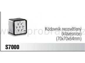 CAME S7000 kódovací klávesnice neosvětlená