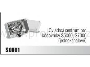 CAME S0001 jednokanálové ovládací centrum pro kódovníky S5000 a S7000  POSLEDNÍ KUS