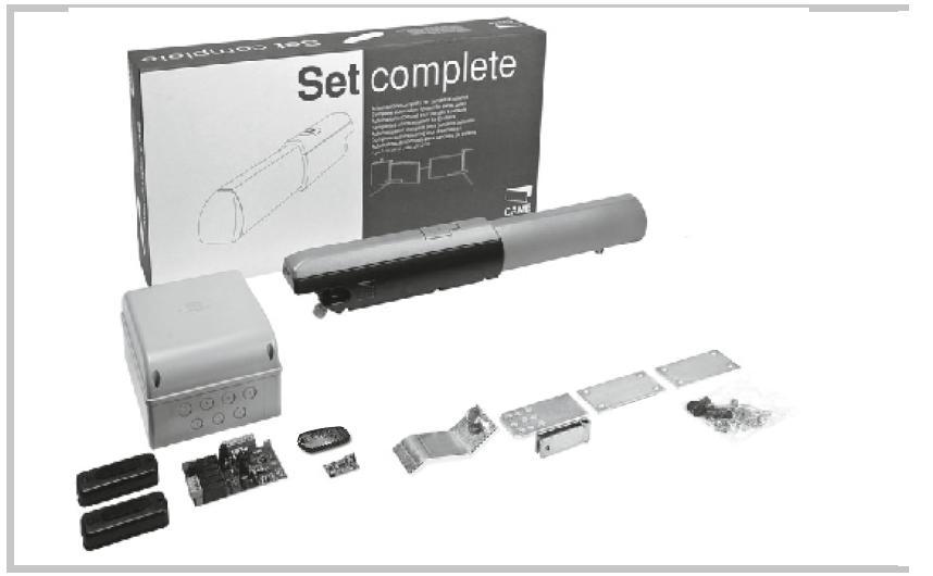 CAME ATI 5001 mini pohon pro jednořídlou bránu do 5 m průjezdu, fotobuňky, dálkový ovladač