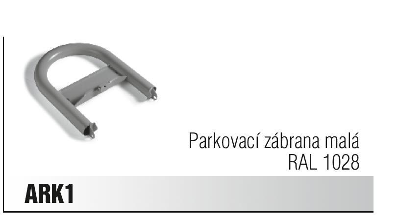 CAME ARK 1 parkovací zábrana malá RAL 1028