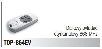 CAME TOP 864 ev dálkový ovladač čtyřkanálový, frekvence 868 Mhz
