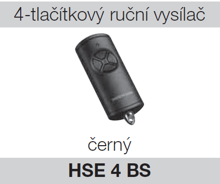 Hörmann HSE 4 BS černý plast