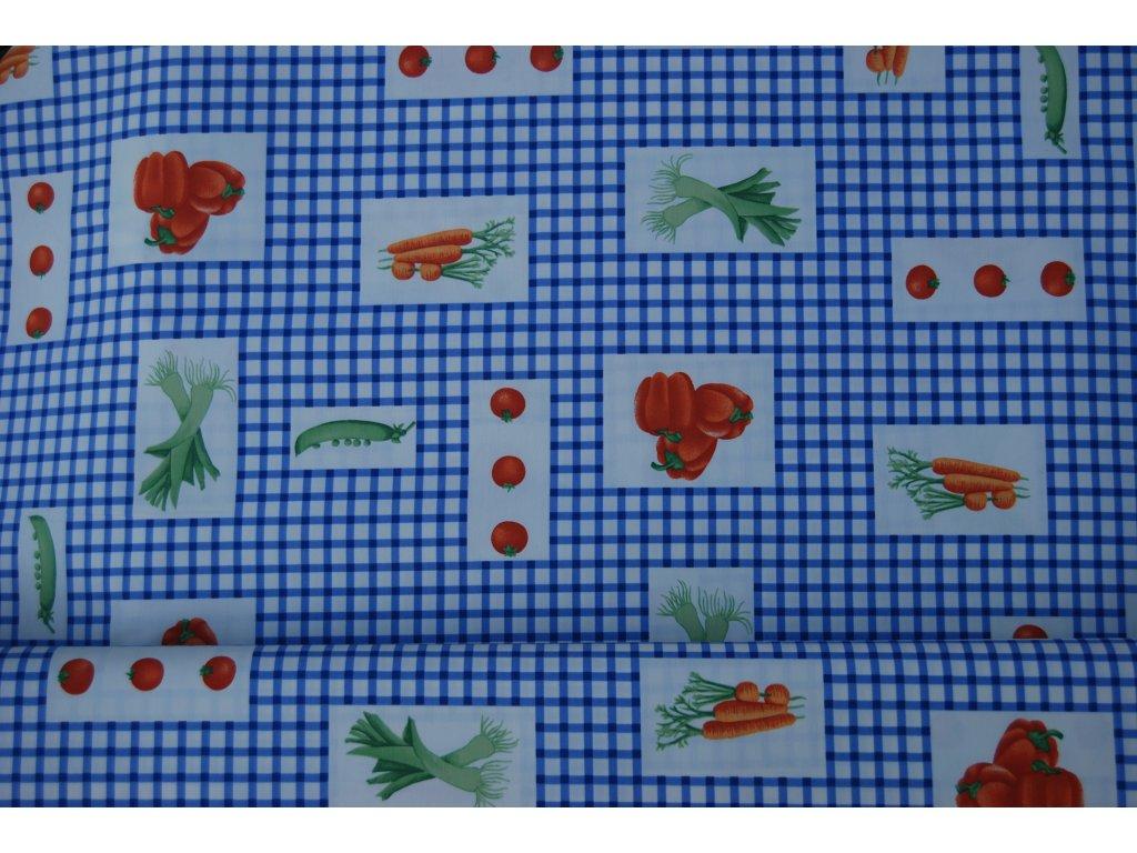 LÁTKA V A024 š. 280 modrá kostka zelenina