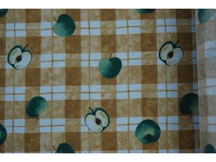LÁTKA V A029 š. 140 jablka tisk