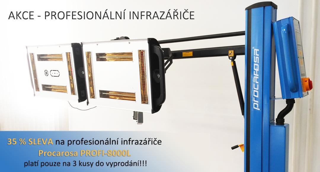 Akce na profesionální infrazářiče Procarosa PROFI-8000L
