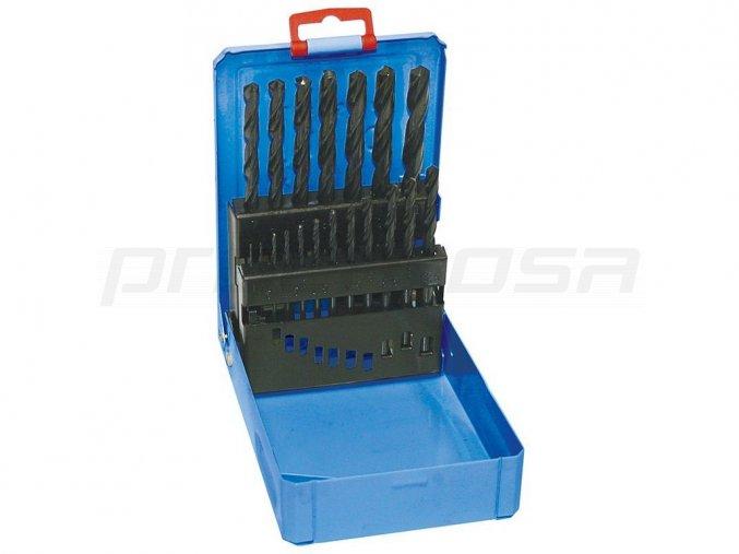 Sada vrtáků 19-dílná 1,00-10,00x0,5mm ČSN 221121RNHSS Pasivovaná kovový obal