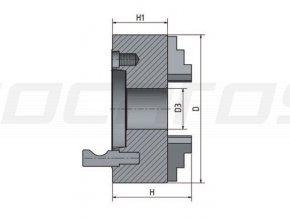 3-čelisťové sklíčidlo s centrickým upínáním ø 200 mm Camlock 6