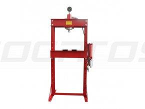 Dílenský lis 30T pneumaticko-hydraulický s tlakoměrem